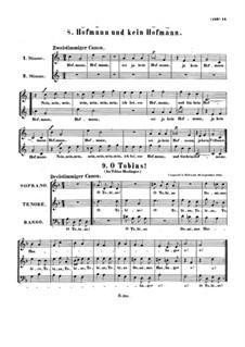 Два канона, WoO 180, 182: Два канона by Людвиг ван Бетховен