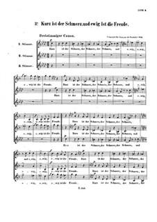 Kurz ist der Schmerz, WoO 163: Canon for three voice by Людвиг ван Бетховен