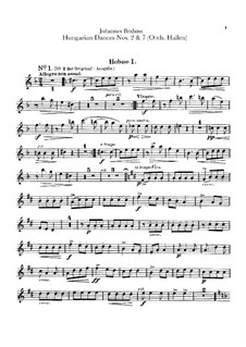 No.2, 7: Для оркестра – Партии гобоев by Иоганнес Брамс