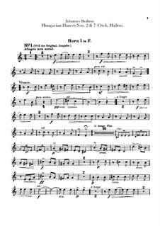 No.2, 7: Для оркестра – Партии валторн by Иоганнес Брамс
