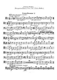No.2, 7: Для оркестра – Партии тромбонов by Иоганнес Брамс