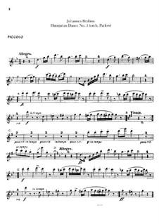 No.5, 6: Для оркестра – Партии флейт by Иоганнес Брамс