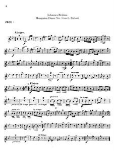 No.5, 6: Для оркестра – Партии гобоев by Иоганнес Брамс