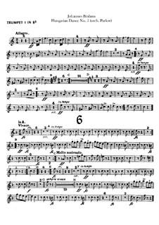 No.5, 6: Для оркестра – Партии труб by Иоганнес Брамс
