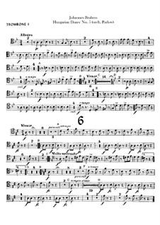 No.5, 6: Для оркестра – Партии тромбонов by Иоганнес Брамс