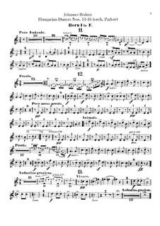 No.11-16: Для оркестра – Партии валторн by Иоганнес Брамс