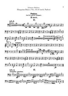 No.11-16: Для оркестра – Партии литавр by Иоганнес Брамс