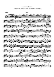 No.17-21: Для оркестра – Партии гобоев by Иоганнес Брамс