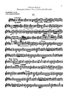 No.17-21: Для оркестра – Партии кларнетов by Иоганнес Брамс