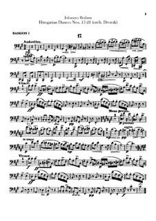 No.17-21: Для оркестра – Партии фаготов by Иоганнес Брамс