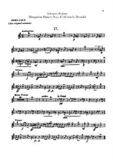 No.17-21: Для оркестра – Партии валторн by Иоганнес Брамс