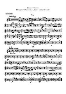 No.17-21: Для оркестра – Партии труб by Иоганнес Брамс