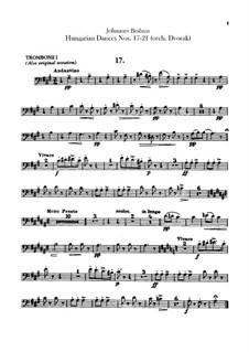 No.17-21: Для оркестра – Партии тромбонов by Иоганнес Брамс