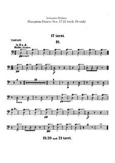 No.17-21: Для оркестра – Партии ударных by Иоганнес Брамс