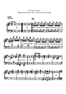 No.17-21: Для оркестра – Партия арфы by Иоганнес Брамс