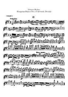 No.17-21: Для оркестра – Партии скрипок by Иоганнес Брамс