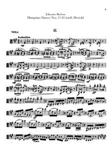 No.17-21: Для оркестра – Партия альта by Иоганнес Брамс