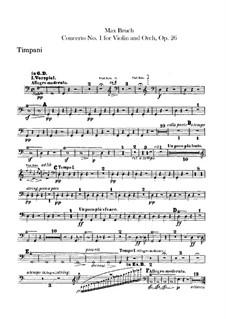 Концерт для скрипки с оркестром No.1 соль минор, Op.26: Партия литавр by Макс Брух