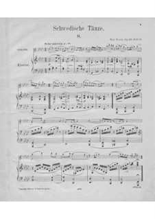 Шведские танцы, Op.63: No.8-15 – Партитура by Макс Брух