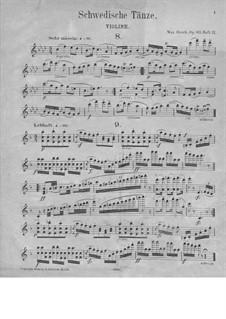 Шведские танцы, Op.63: No.8-15 – Партия скрипки by Макс Брух