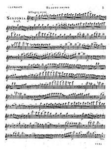 Симфония No.1 си-бемоль мажор, Op.18: Партия I флейты by Муцио Клементи