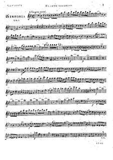 Симфония No.1 си-бемоль мажор, Op.18: Партия II флейты by Муцио Клементи