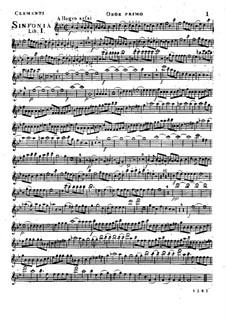 Симфония No.1 си-бемоль мажор, Op.18: Партия I гобоев by Муцио Клементи