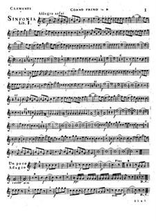 Симфония No.1 си-бемоль мажор, Op.18: Партия I валторны by Муцио Клементи