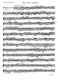 Симфония No.1 си-бемоль мажор, Op.18: Скрипка II by Муцио Клементи