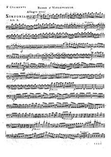Симфония No.1 си-бемоль мажор, Op.18: Партия виолончели и контрабаса by Муцио Клементи