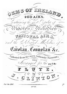 Gems of Ireland, Op.45: Arias No.1-100 by Джон Клинтон