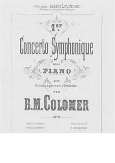 Симфонический концерт No.1 для фортепиано с оркестром, Op.22: Аранжировка для 2 фортепиано в 4 руки by Блас Мария де Коломер