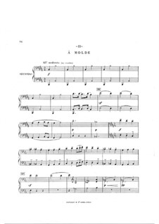 В Норвегии. Симфоническая сюита: Часть II, для фортепиано в четыре руки by Arthur Coquard