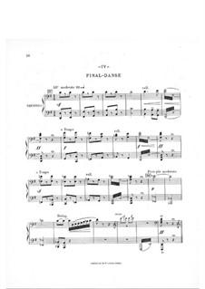 В Норвегии. Симфоническая сюита: Часть IV, для фортепиано в четыре руки by Arthur Coquard