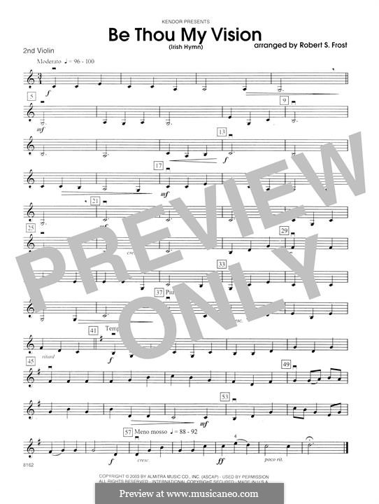 Be Thou My Vision (Printable scores): 2nd Violin part by folklore