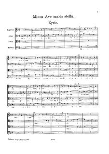 Missa Ave maris stella: Missa Ave maris stella by Жоскен де Пре