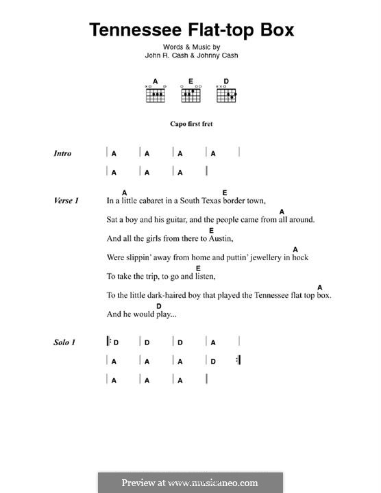 Tennessee Flat Top Box: Для гитары by Johnny Cash