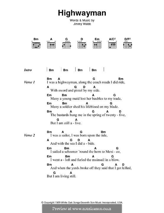Highwayman: Для гитары by Jimmy Webb