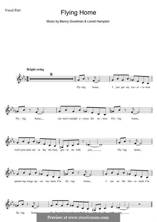 Flying Home: Для клавишного инструмента by Benny Goodman, Lionel Hampton