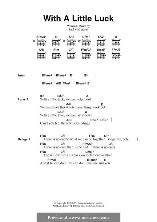 With a Little Luck: Для гитары by Paul McCartney