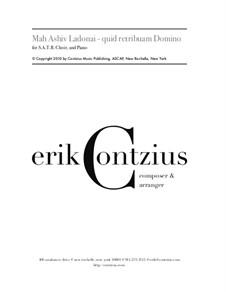 Mah Ashiv Ladonai - quid retribuam Domino: Mah Ashiv Ladonai - quid retribuam Domino by Erik Contzius