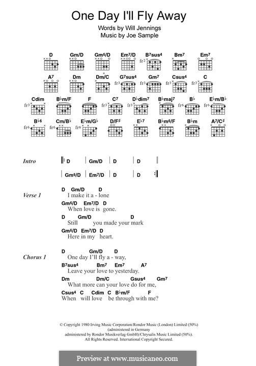 One Day I'll Fly Away (Randy Crawford): Для гитары by Joe Sample