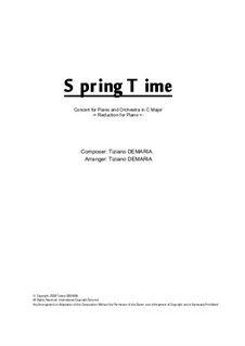 Spring Time: Piano reduction by Tormy Van Cool