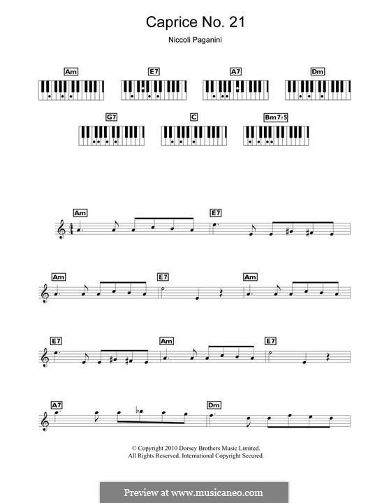 Двадцать четыре каприса, Op.1: Caprice No.24, for piano by Никколо Паганини