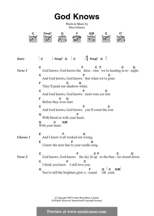 God Knows: Для гитары by Thea Gilmore