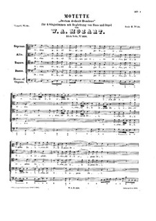 Justum deduxit Dominus, K.326: Justum deduxit Dominus by Вольфганг Амадей Моцарт