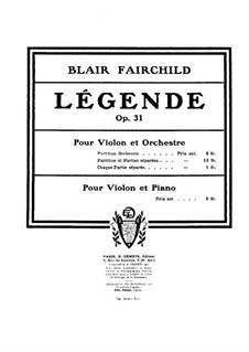Легенда для скрипки с оркестром, Op.31: Легенда для скрипки с оркестром by Блэр Фэйрчайлд