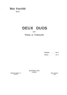 Два дуэта для скрипки и виолончели, Op.32: Два дуэта для скрипки и виолончели by Блэр Фэйрчайлд