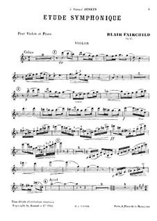 Симфонический этюд, Op.45: Сольная партия by Блэр Фэйрчайлд