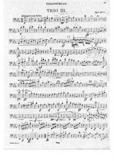 Три фортепианных трио, Op.1: Трио No.3 – партия виолончели by Людвиг ван Бетховен